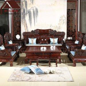 印尼黑酸枝沙发 麒麟宝座 7件套/11件套 正宗阔叶黄檀