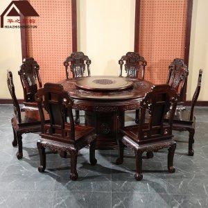 印尼黑酸枝圆餐桌 如意圆台 多规格可选 正宗阔叶黄檀