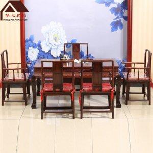 老挝大红酸枝茶台 6件套 交趾黄檀