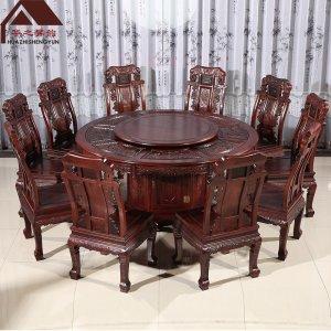 老挝红酸枝圆餐桌  多规格可选