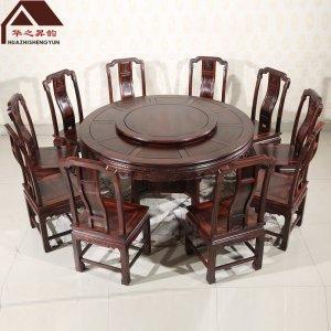 印尼黑酸枝圆餐桌 国色天香 多规格可选 正宗阔叶黄檀