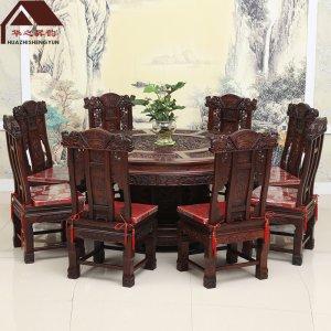 印尼黑酸枝圆餐桌 百狮 多规格可选 正宗阔叶黄檀