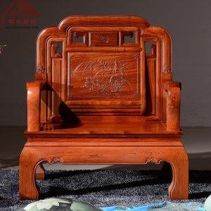 缅甸花梨木沙发 新款国色天香 7件套/11件套 大果紫檀