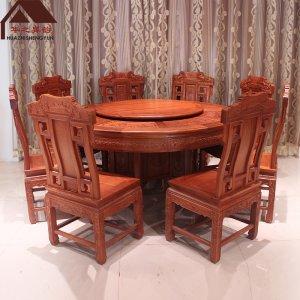 缅甸花梨木餐桌 宝马 多规格可选 大果紫檀