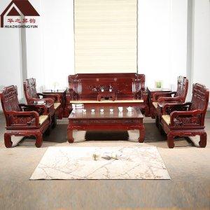 非洲酸枝木沙发 国色天香 7件套/11件套