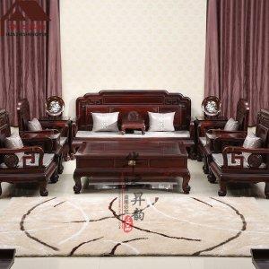 印尼黑酸枝沙发 新中式 7件套/11件套 正宗阔叶黄檀