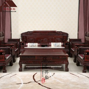 印尼黑酸枝沙发 麒麟 7件套/11件套 正宗阔叶黄檀