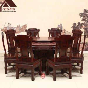 印尼黑酸枝圆餐桌 多规格可选 阔叶黄檀