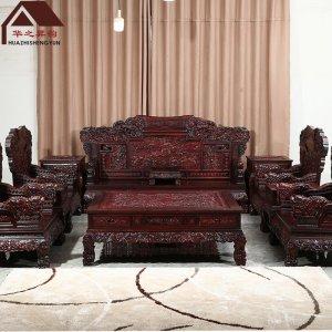 印尼黑酸枝沙发 麒麟 加厚深雕 7件套/11件套 正宗阔叶黄檀