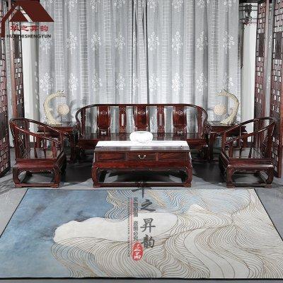 印尼黑酸枝沙发 新中式 明式 7件套/11件套 正宗阔叶黄檀