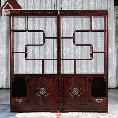 印尼黑酸枝博古架 新中式多宝阁 隔厅柜  正宗阔叶黄檀