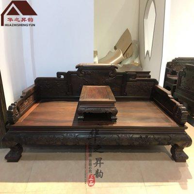 老挝大红酸枝罗汉床 2件套