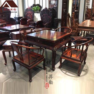 老挝大红酸枝麻将桌