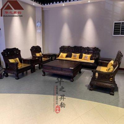 老挝大红酸枝沙发 麒麟 7件套/11件套