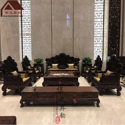老挝大红酸枝沙发 云龙 7件套/11件套